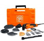Fein FMM 350 QSL Multimaster Top Herramienta multiuso + juego de accesorios de 41 piezas en maletín - 350 W  - 72295261000