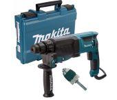 Makita HR2630X7 Martillo ligero con adaptador sds-plus en maletín - 800W - 2,4J