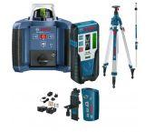 Bosch GRL 300 HVG SET Láser rotativo en maletín + LR 1G Receptor & BT 300 HD Trípode & GR 240 Regla graduada