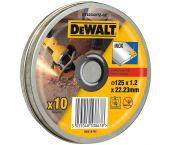 DeWalt DT42340TZ Disco de corte enlatado - 125 x 22,23 x 1,2 mm - acero inoxidable (10 piezas) - DT42340TZ-QZ