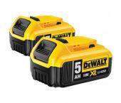 DeWalt DCB184-2 baterías de iones de litio de 18 V (2x DCB184) - 5.0Ah