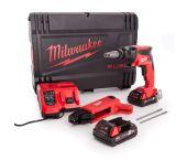 Milwaukee M18 FSGC-202X 18V Batería de ión de litio Máquina de tornillo de yeso / Juego de máquina de tornillo de cinturón (2x 2.0Ah) en caja HD - carbón sin escobillas - 4933459199