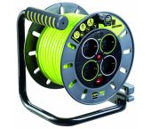 Masterplug Pro-XT Enrollador de cable - 25m - 4 enchufes - OMG25164SL-PX