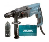 Makita HR2470FT SDS-plus Martillo combinado incl. portabrocas de acción rápida en maleta- 780W - 2,4J