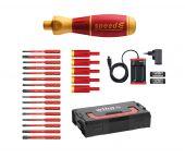 Destornillador speedha Wiha 590 T103, juego 3 con slimBits en L-Boxx Mini - 25 piezas - PH / PZ / Ranura / Torx - 41913