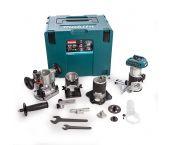 Makita DRT50ZJX3 18V Li-Ion accu bovenfrees / kantenfrees / trimmer body en Mbox