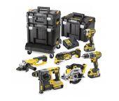 DeWALT DCK654P3T 18V Li-Ion Batería Set de 6 piezas (3 baterías de 5,0 amperios) en maletín TSTAK - sin escobillas - DCK654P3T-QW