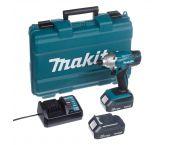 Juego de destornilladores de impacto para batería de iones de litio Makita TD127DWE 18V (batería 2x 1.5Ah) en estuche