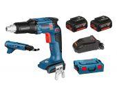 Bosch GSR 18 V-EC TE 18V juego de destornilladores sin cable / destornilladores de cinturón (2x 4.0Ah batería) en L-Boxx - sin escobillas - 06019C8000