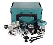 Makita DRT50ZJX2 18V Li-Ion accu bovenfrees / kantenfrees / trimmer body en Mbox