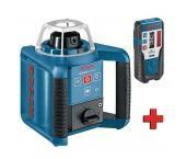 Bosch GRL 400 H Láser rotativo + LR 1 receptor en maletín - 400m - 0601061800