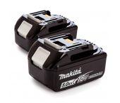 Makita 197288-2 BL1850B Baterías Duopack 18V Litio-ion - 5.0Ah (2 piezas)