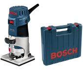 Bosch GKF 600 Fresadora de cantos + accesorios extra en maletín - 600W - 6-8mm - 060160A100