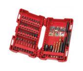 Milwaukee 4932430582/4932430908 Juego de piezas de impacto Shockwave de 40 piezas en estuche