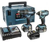 Makita DLX2131JX1 18V Li-Ion batería Taladro combinado (DHP482) & atornillador de impacto (DTD152) set combinado (con 3x 3.0Ah baterías) en Mbox